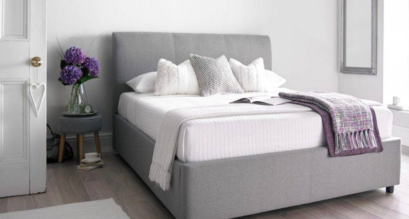 Serenity Upholstered Ottoman Storage Bed Cool Grey