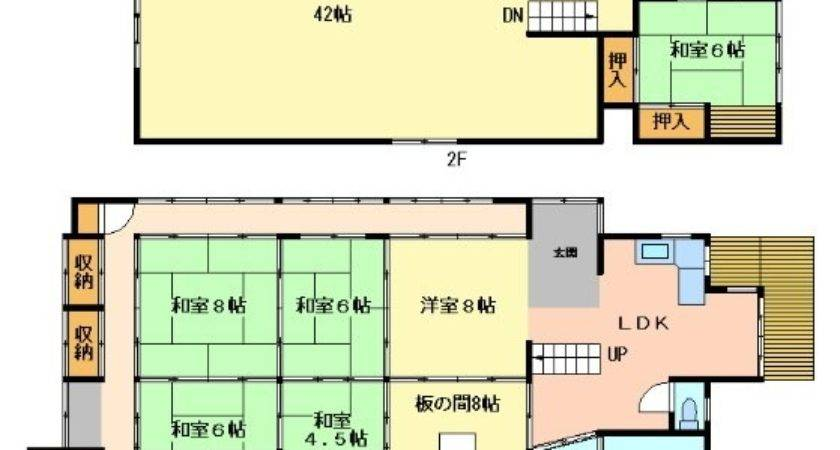 Shojiko Traditional Japanese House Floor Plan Map