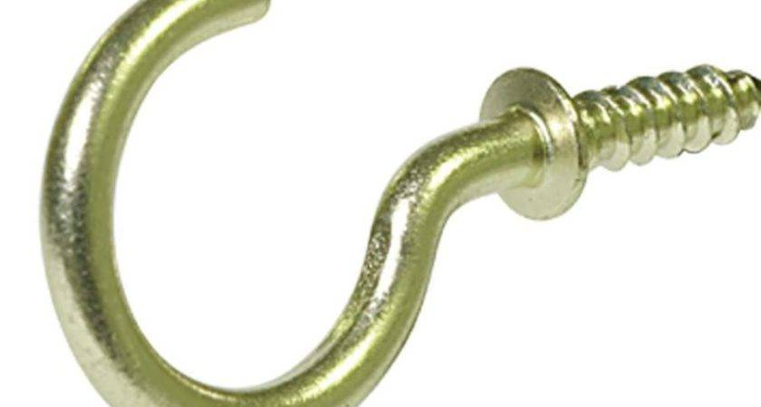 Shop Hillman Pack Brass Cup Hooks Lowes