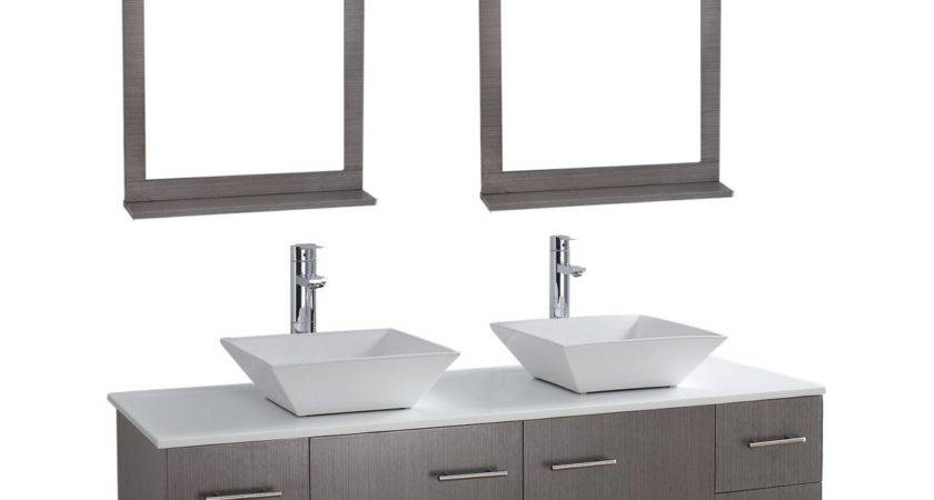 Siena Solid Wood Wall Mounted Double Bathroom Vanity