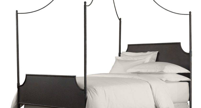 Silver Glaze Carved Wrought Iron Bed Poles Canopy