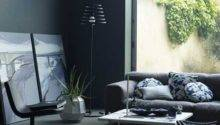 Simple Black Grey Living Room Home Interiors