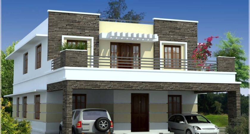 Simple Contemporary Style Kerala House Elevation