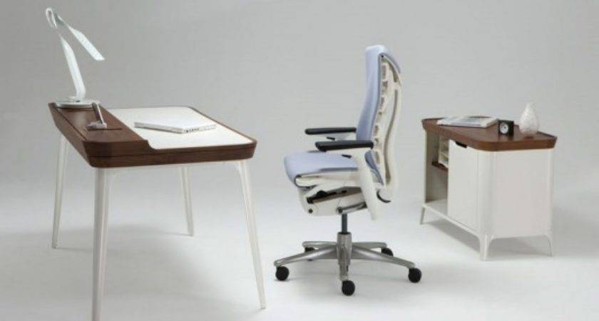 Simple Stylish Home Office Desk Media Cabinet