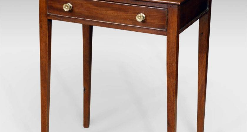 Small Antique Side Table Occasional Square