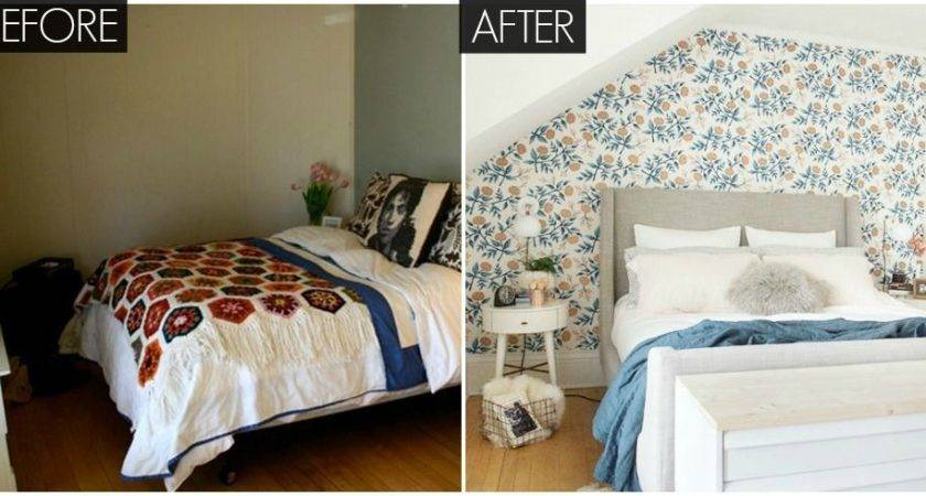 Small Floral Bedroom Makeover Bright Before