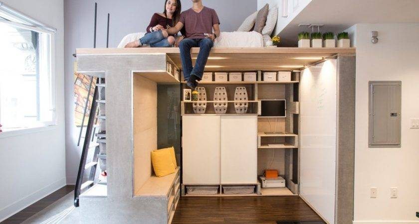 Small Loft Designed Multifunctional Modern Space