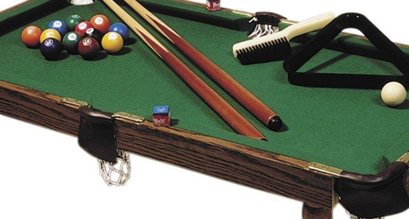Small Pool Table Simple Bumpers Good