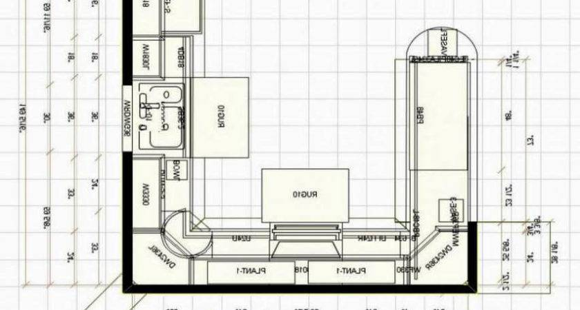 Small Shaped Kitchen Floor Plans Home Design