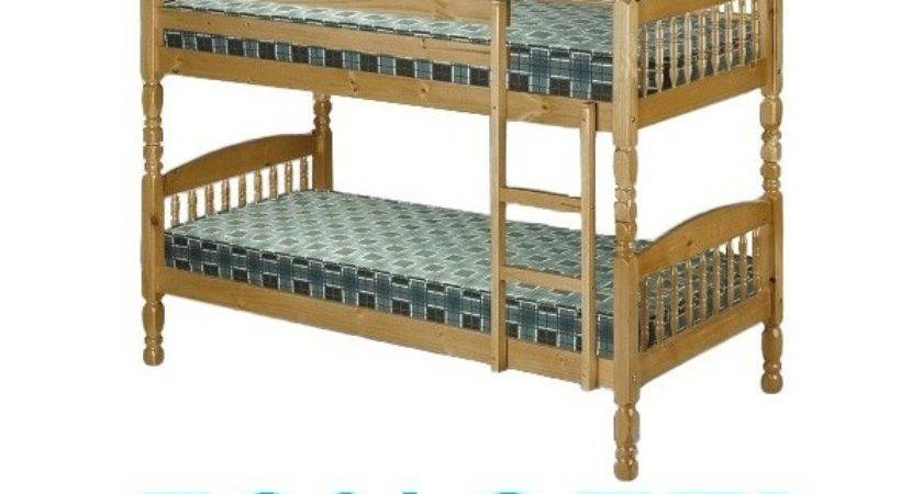 Small Single Bunk Bed Pine
