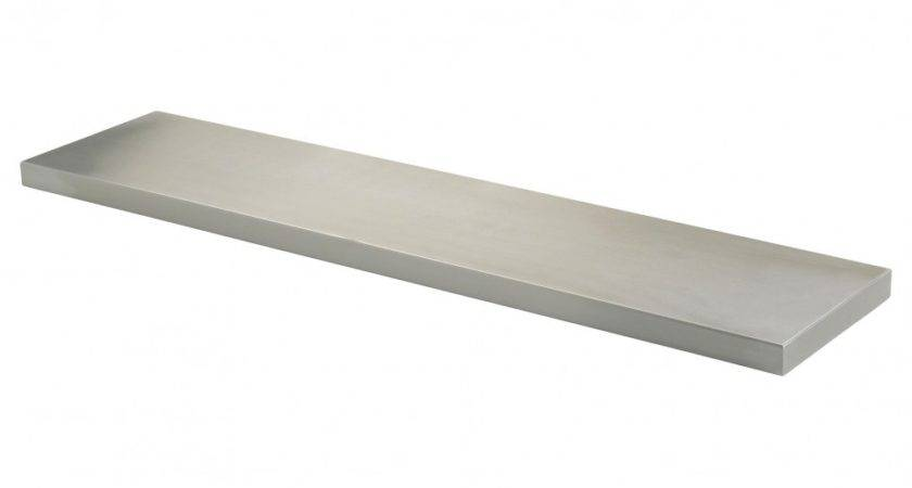 Small Stainless Steel Floating Wall Shelf Hallway