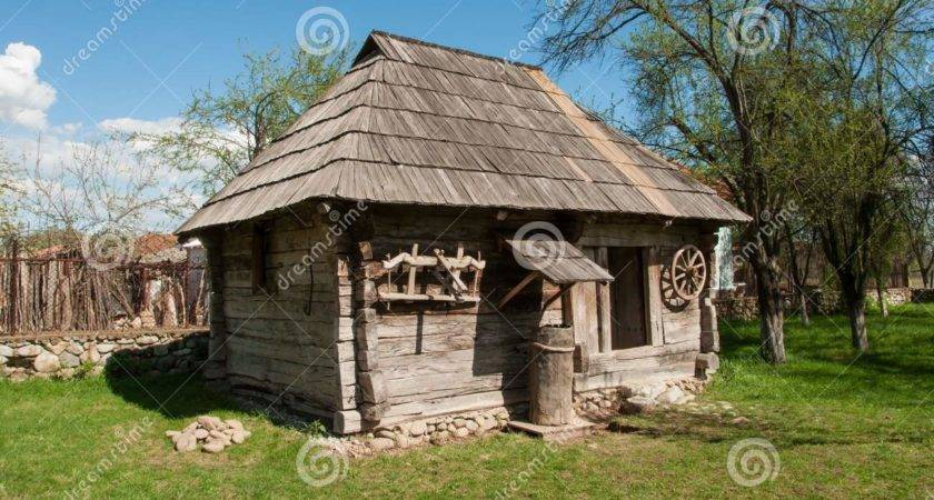 Small Wooden Traditional House Romanian Village Old Plans