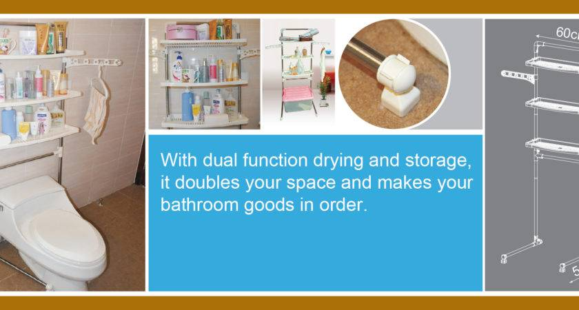 Sms Bath Dual Function Bathroom Rack Save Space