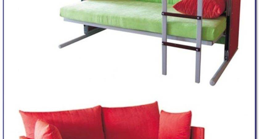 Sofa Turns Into Bunk Beds Bedroom Home Design