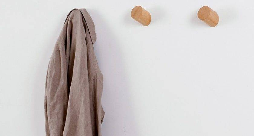 Solid Wood Coat Rack Wall Clothes Hanging Hook