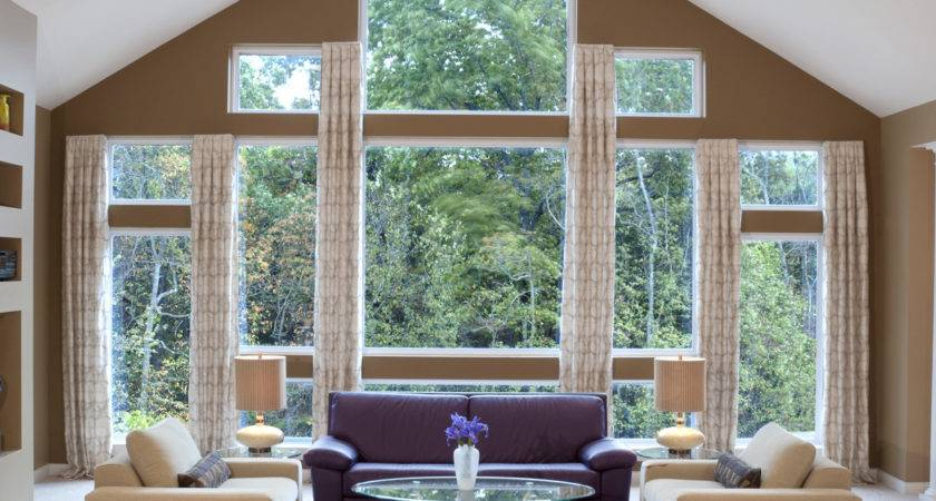 Special Window Curtain Ideas Large Windows Cool Design