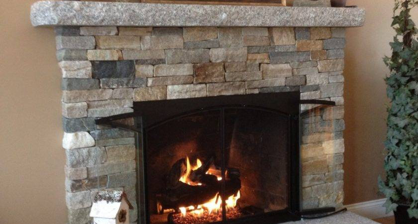 Stacked Stone Fireplace Design Ideas Long Hairstyles