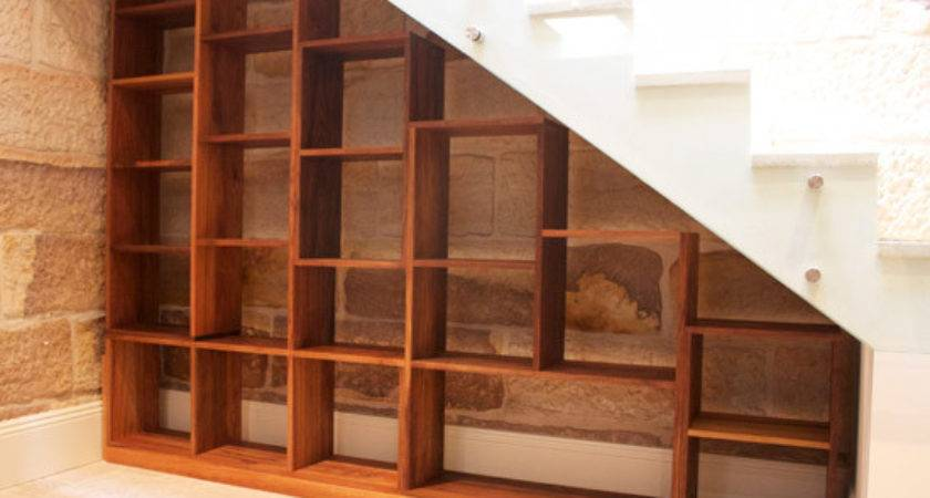 Stair Bookcase Furniture Under Stairs Built