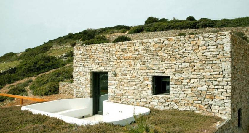 Stepped House Stone Walls Standout White Cube