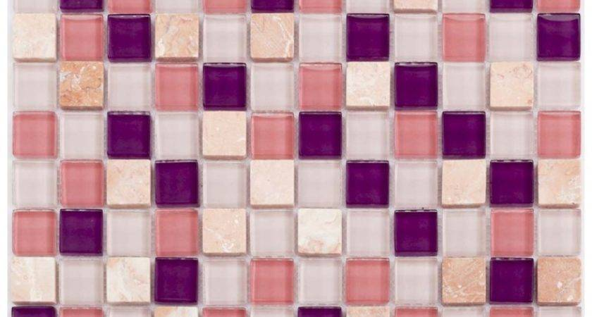 Stone Glass Mosaic Sheets Square Tiles Cheap Marble Tile