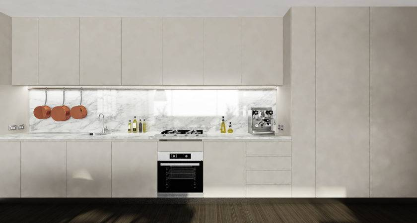 Studio Kitchen Marble Backsplash Interior Design Ideas