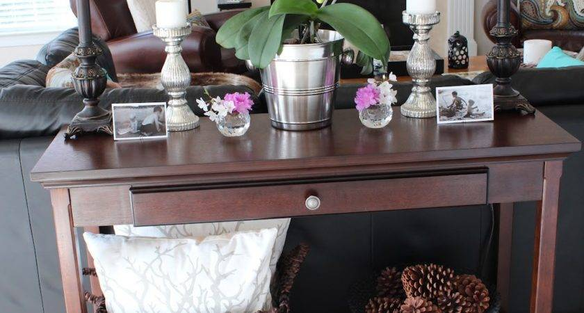 Styling Sofa Table Setting Four