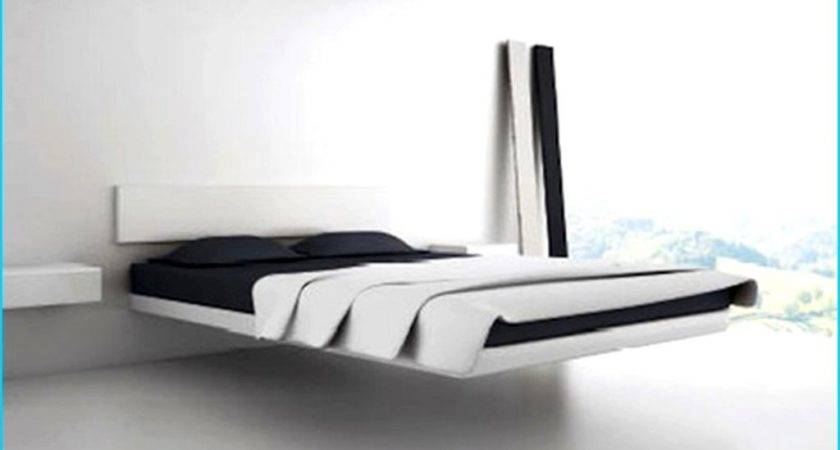 Stylish Floating Bed Furniture Design Ideas