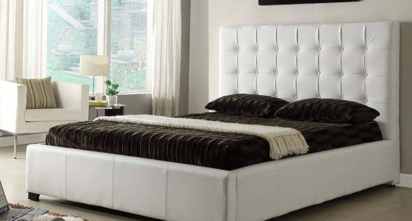 Stylish Leather Elite Platform Bed Extra Storage