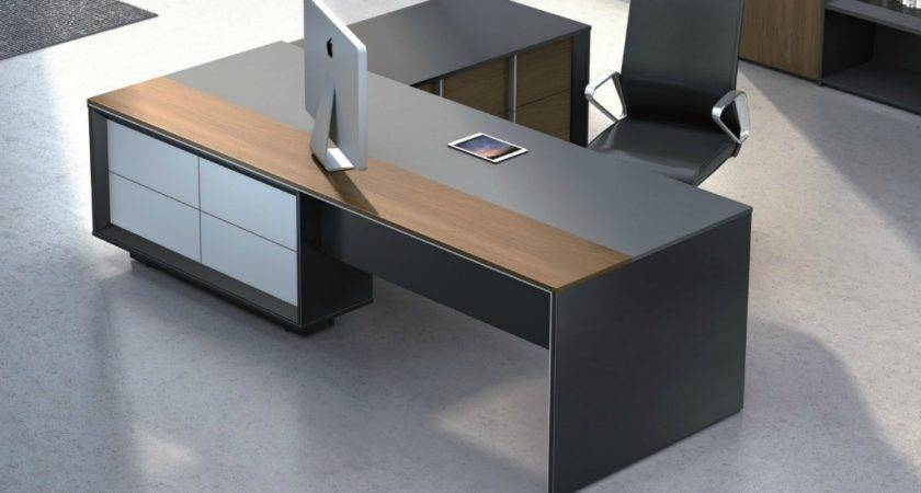 Stylish Mary Office Table Wood Leather Boss Cabin