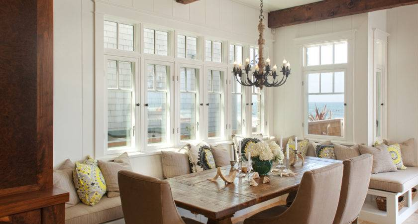 Superb Cozy Dining Room Long Banquette Seating