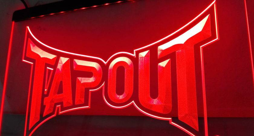Tapout Led Neon Light Sign Home Decor Crafts