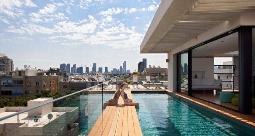 Terrace Infinity Pool Tops Off Classy Contemporary Home