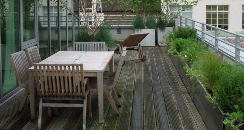 Terraced Roof Front Terrace Design Ideas