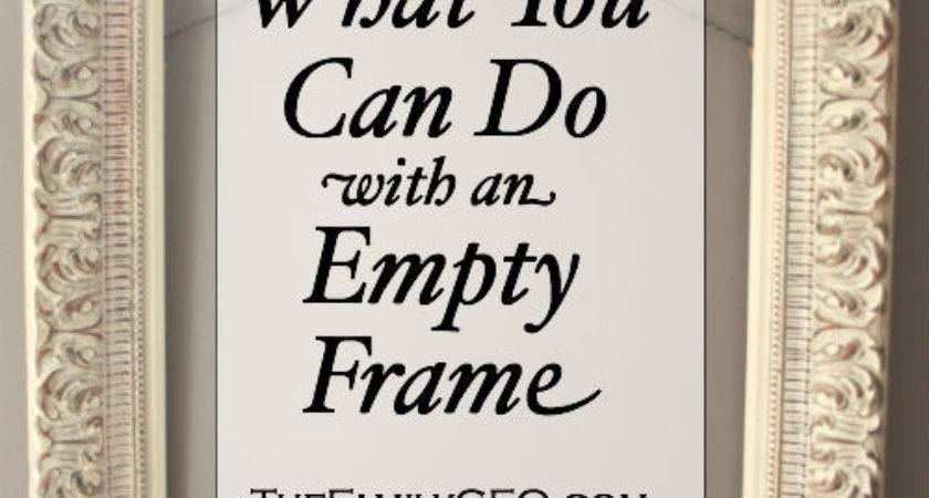 Things Empty Frame Ceo