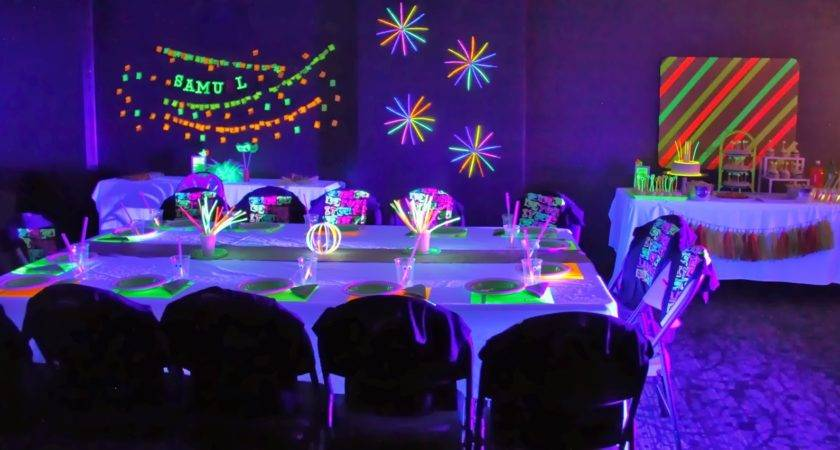 Threelittlebirds Events Neon Glow Dark Birthday Party