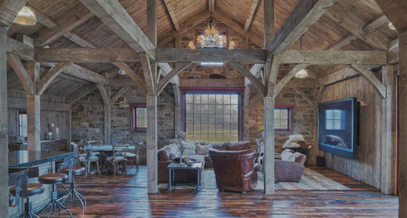 Timber Frame Great Rooms Lodge Living