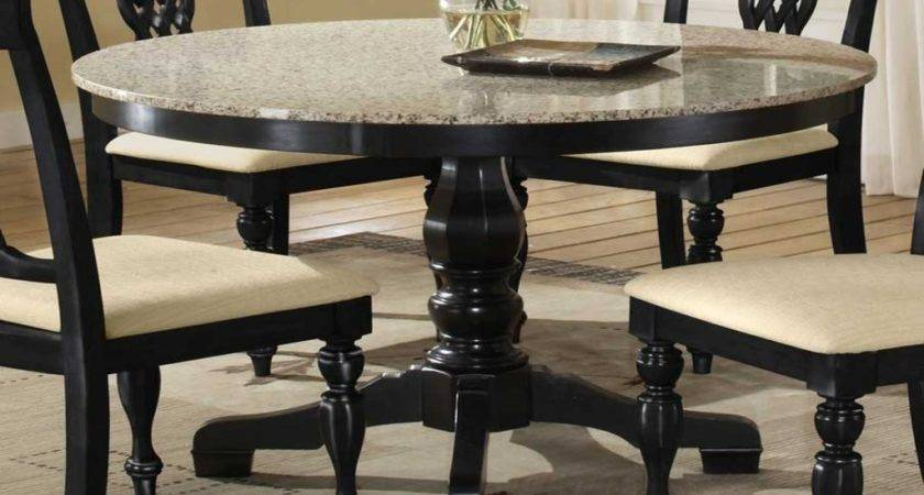 Top Glass Dining Table Set Round