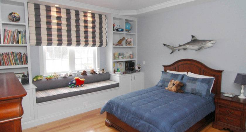 Transitional Boy Bedroom Shark Decor Hgtv