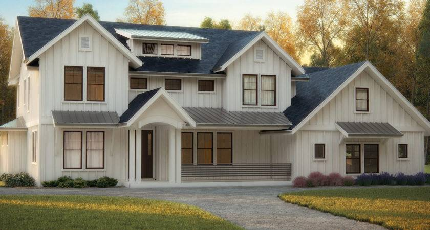Transitional Style House Plans Mix Classic