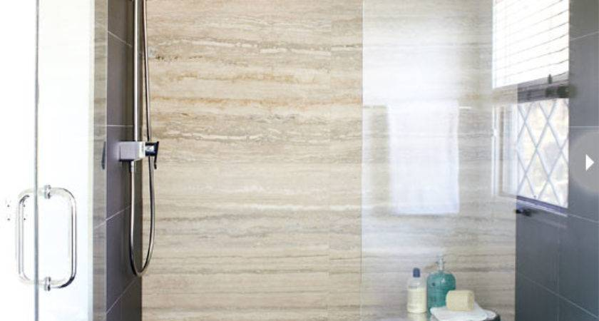 Travertine Shower Tiles Contemporary Bathroom Style Home