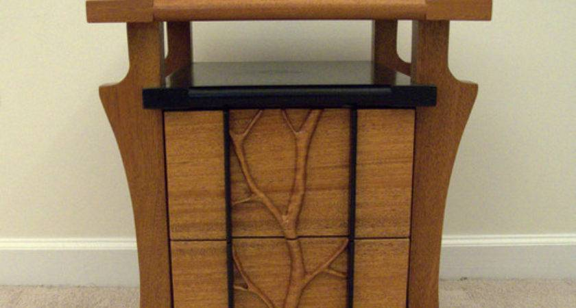 Tree Line Asian Nightstands Bedside Tables
