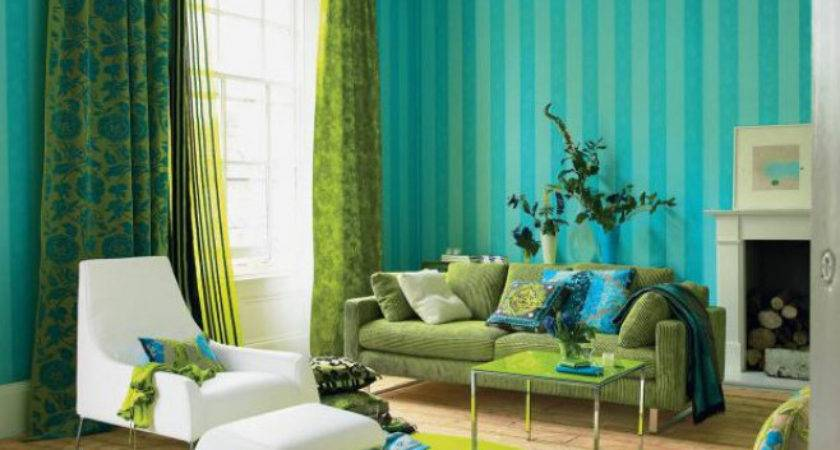 Turquoise Green Color Schemed Interiors Panda House