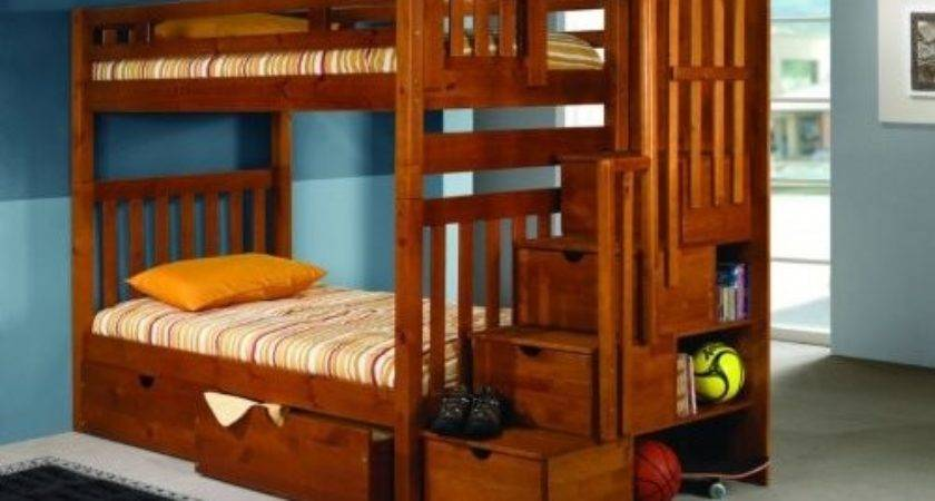 Twin Bunk Beds Stairs