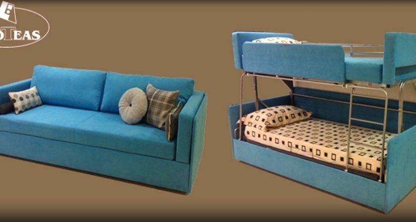 Twinny Couch Morphs Into Bunk Bed Just Like Its