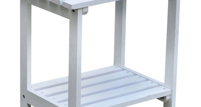 Two Tier Small Side Table Patio Tables