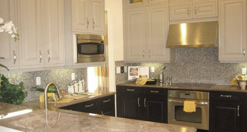 Two Tone Kitchen Cabinets Color Pick Contrast Renewal