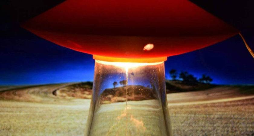 Ufo Alien Abduction Lamp Bedroom Red Spaceship Night Light