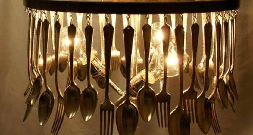 Unique Lighting Design Ideas Recycling Tableware