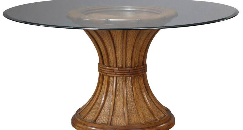 Unique Round Pallet Wood Table Base Glass Top