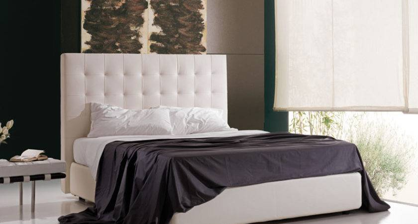 Upholstered Bed Container High Headboard